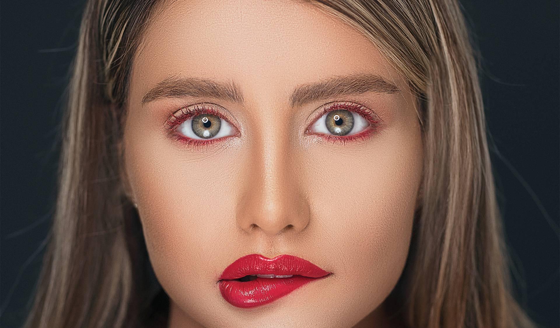 Žensko lice i usne