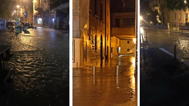 Poplave na splitskom području: 'Voda je poplavila ulice, auti moraju stati jer se ne da voziti'