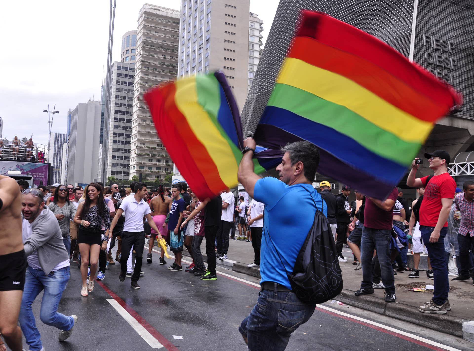 17th Pride Parade LGBT (Lesbian, Gay, Bisexual and Transgender) held in Sao Paulo.