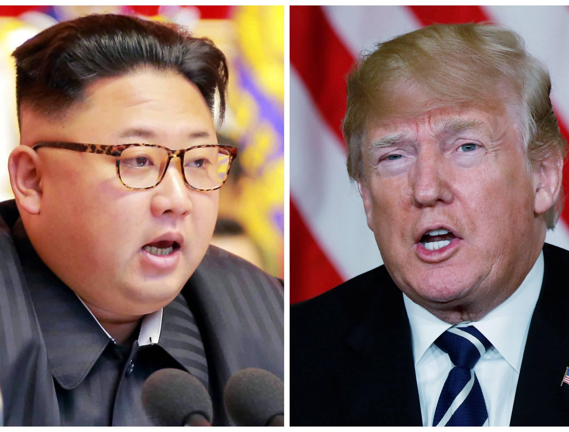 FILE PHOTO: A combination photo of North Korean leader Kim Jong Un and U.S. President Donald Trump