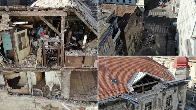Snimke užasa: Ovo su razoreni krovovi zagrebačkih zgrada...