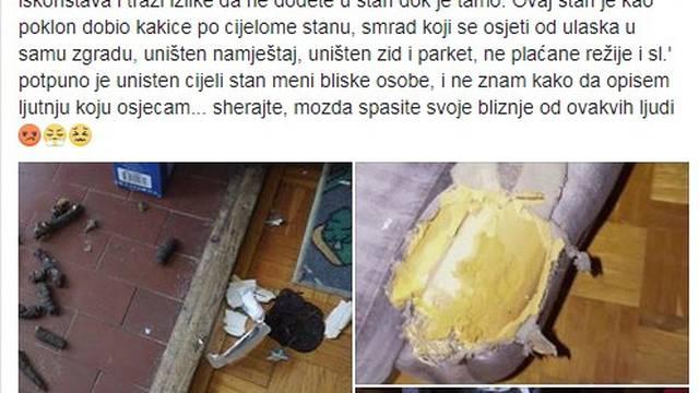 'Ostavila je izmet od pasa po cijelom stanu, sve je uništeno'