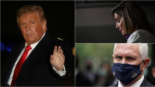Trump ima blage simptome, nalik prehladi: Pelosi čeka rezultat testa, Pence negativan