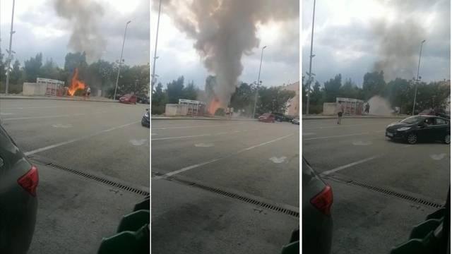 Zapalila se trava kraj plinskih boca na benzinskoj, radnici brzo reagirali i spriječili katastrofu