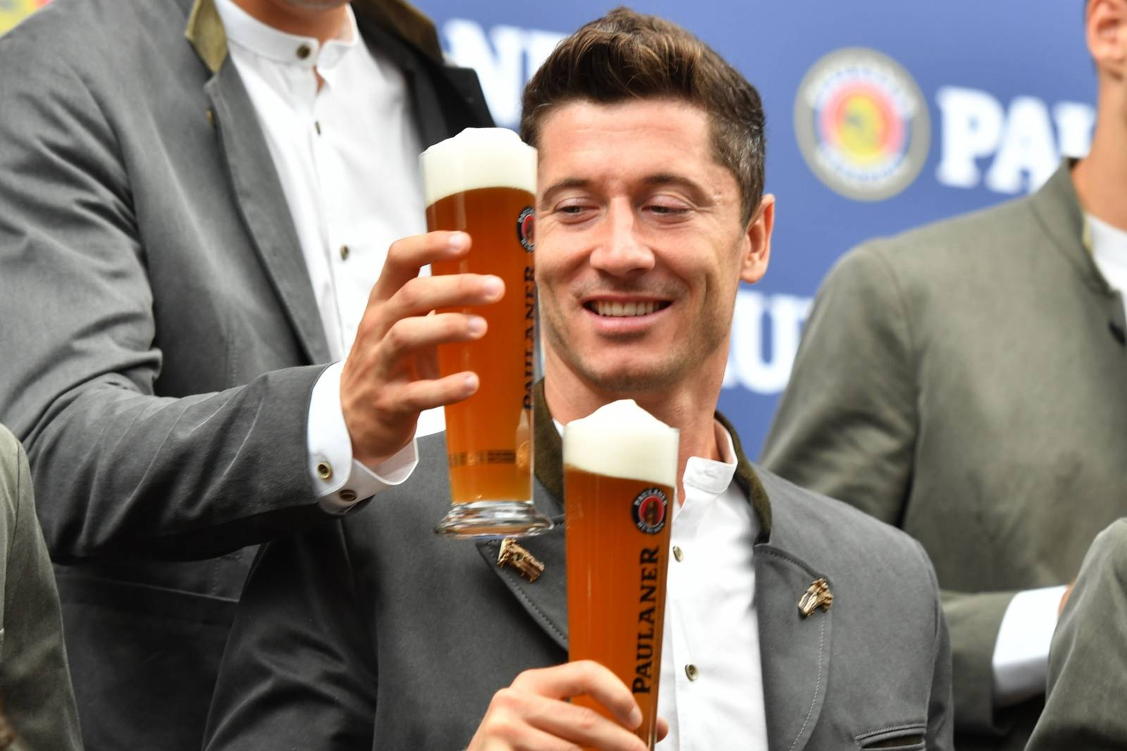 FC Bayern Munich-Paulaner photo shoot.