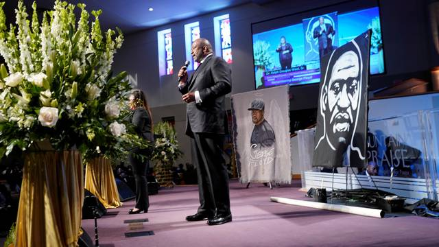 Funeral service for George Floyd at The Fountain of Praise church, in Houston