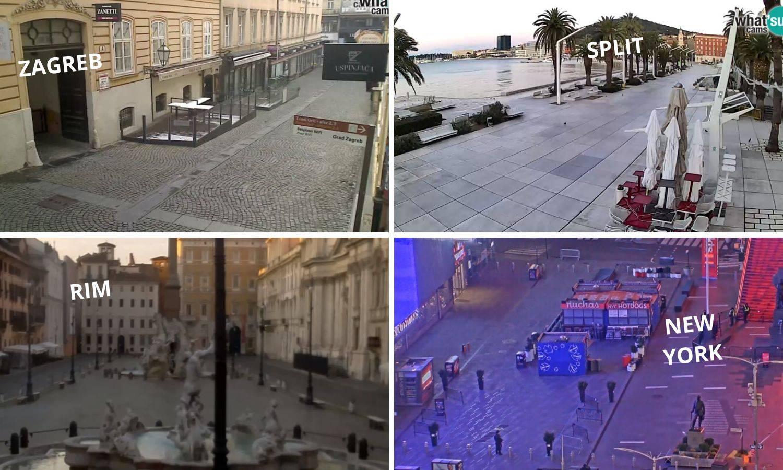 Uživo iz gradova karantena: Amerika stiže Italiju i Kinu