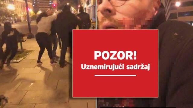 Kod Bijele kuće izboli članove grupe Ponosni dečki:  Policija traži napadače, četvero ranjenih