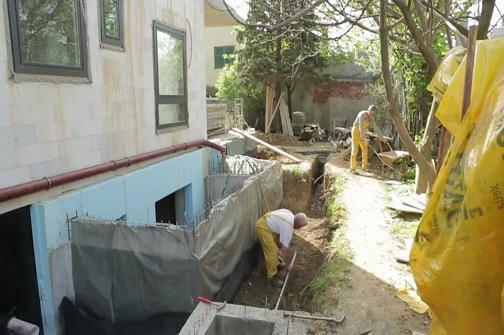 Fasaderski radovi na kući obitelji Jelušić