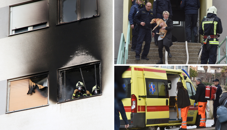 Iz plamtećeg stana spašavali majku, dvoje djece i ljubimce