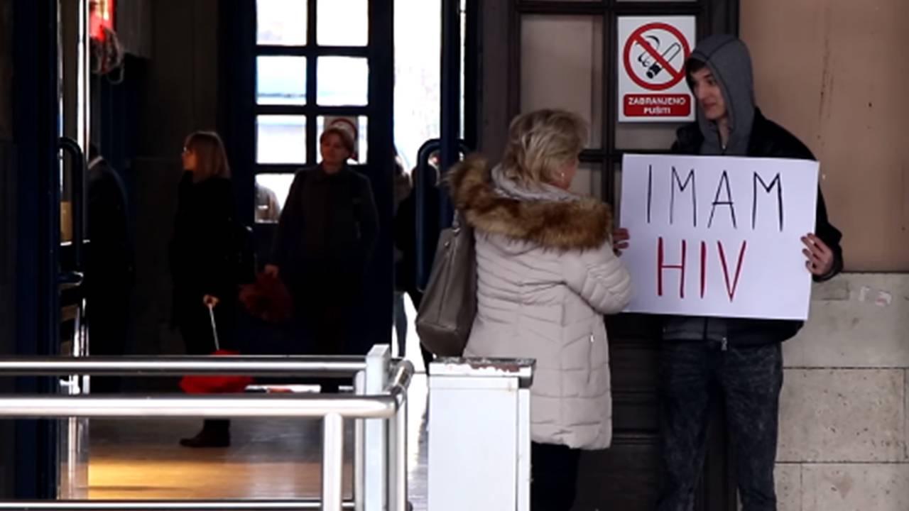 Grlio ljude u centru Zagreba pa rekao: Ja sam HIV pozitivan!