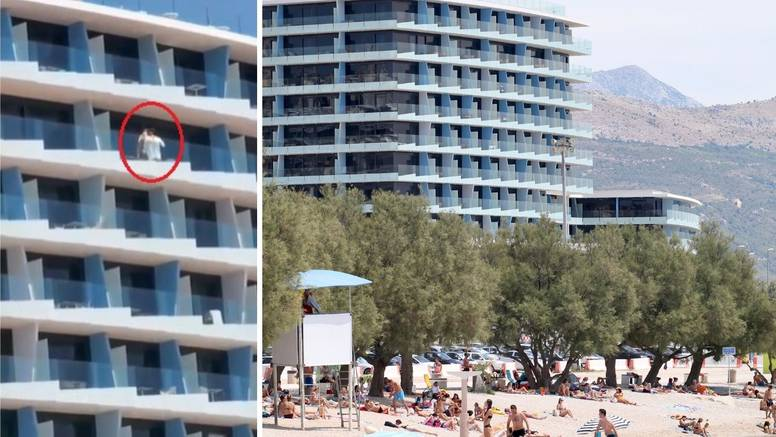 Sirove strasti para na balkonu hotela na splitskom Žnjanu