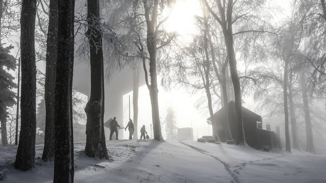 Snježna idila na Sljemenu