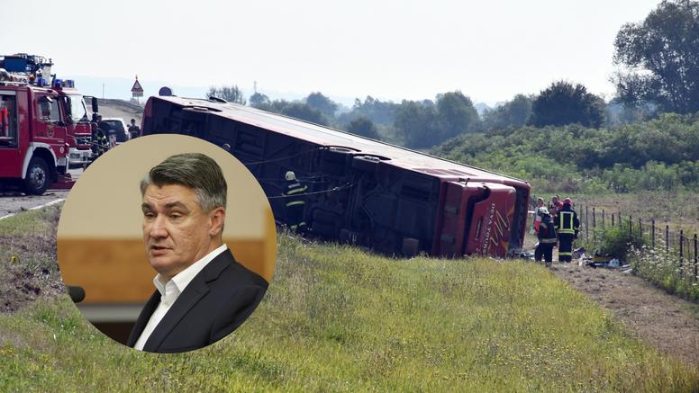 Zoran Milanović izrazio sućut obiteljima poginulih u nesreći kod Slavonskog Broda