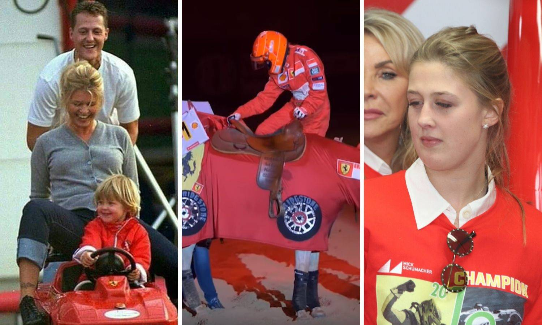 Tata, ovo je za tebe: Gina je za Schumija nosila boje Ferrarija