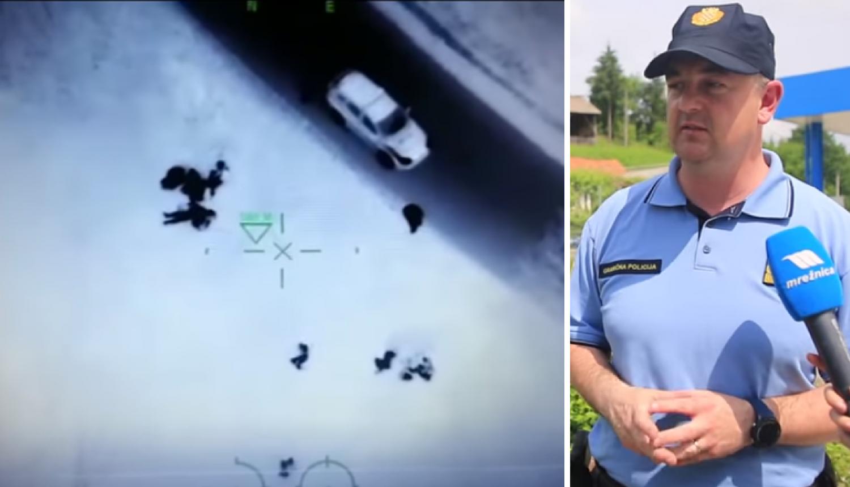 Migrante snimili dronom: 'Eno ih u žbunju, sad su pred vama'