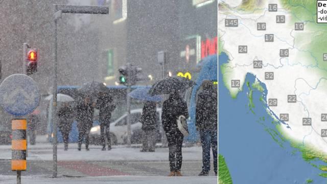 Upozorenje meteorologa: Nagli nalet zime donosi snijeg i mraz