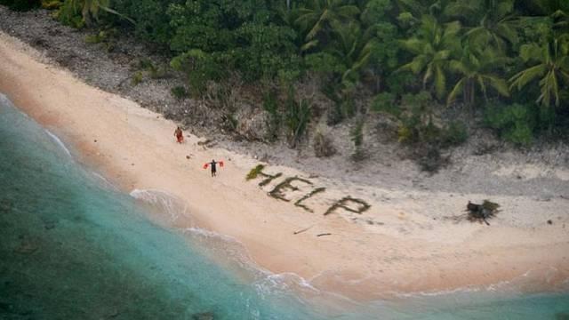Zaglavili na osamljenom otoku: Na plaži su ispisali 'Upomoć'