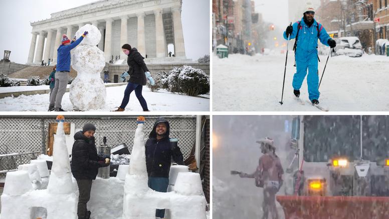 Što je ovo, snovid 21?! Ameriku zatrpala snježna oluja, polugoli kauboj pleše, vani piju kavu
