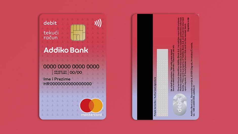 Dostupna beskontaktna mirisna kartica Addiko banke