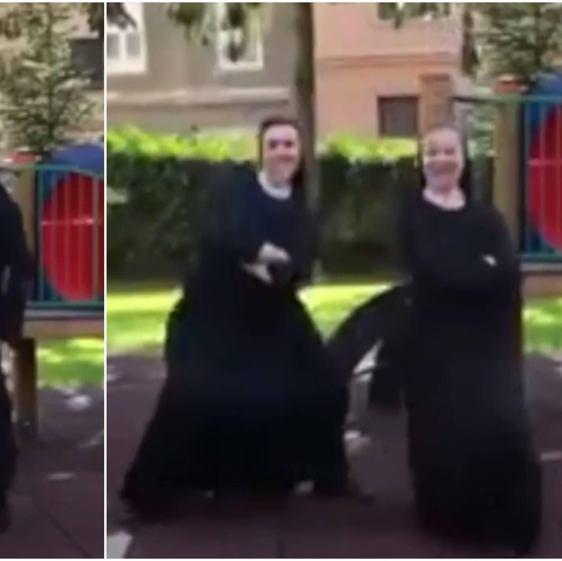 Redovnice nastupaju: Časne iz Zagreba zaplesale protiv krize