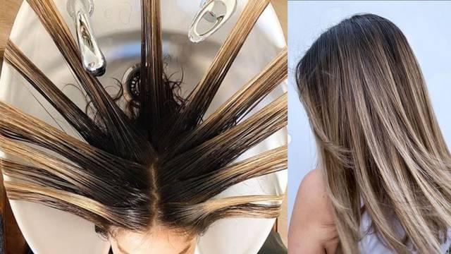 Novi trend u nijansiranju kose: Obrnuti balayage s korijenom