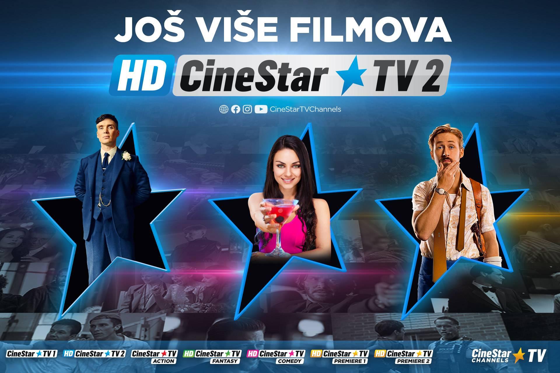 Novi kanal Cinestar TV 2 HD donosi još više filmova!