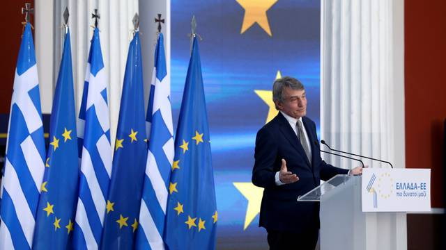 Greece celebrates the 40th anniversary of joining the European Union, in Athens