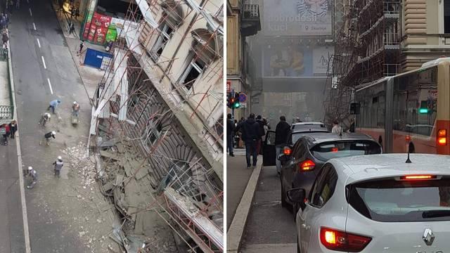 Šok u Rijeci: Urušila se skela u centru grada, promet u blokadi