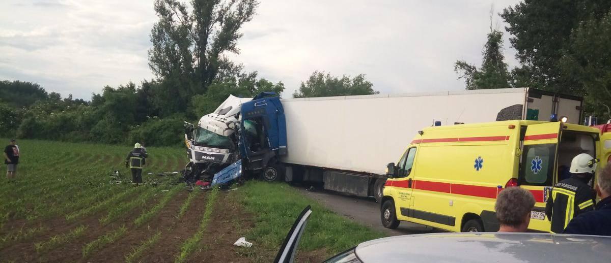 Nesreća u Vukovaru: Sudarili se kamioni, vozači su ozlijeđeni