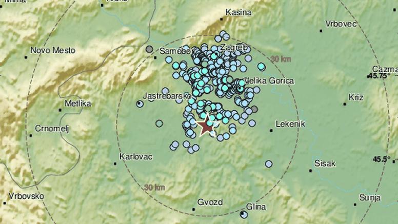 Slabiji potres kod Velike Gorice, jačine 2,2 po Richteru: 'Čulo se kao eksplozija, sve se zatreslo'