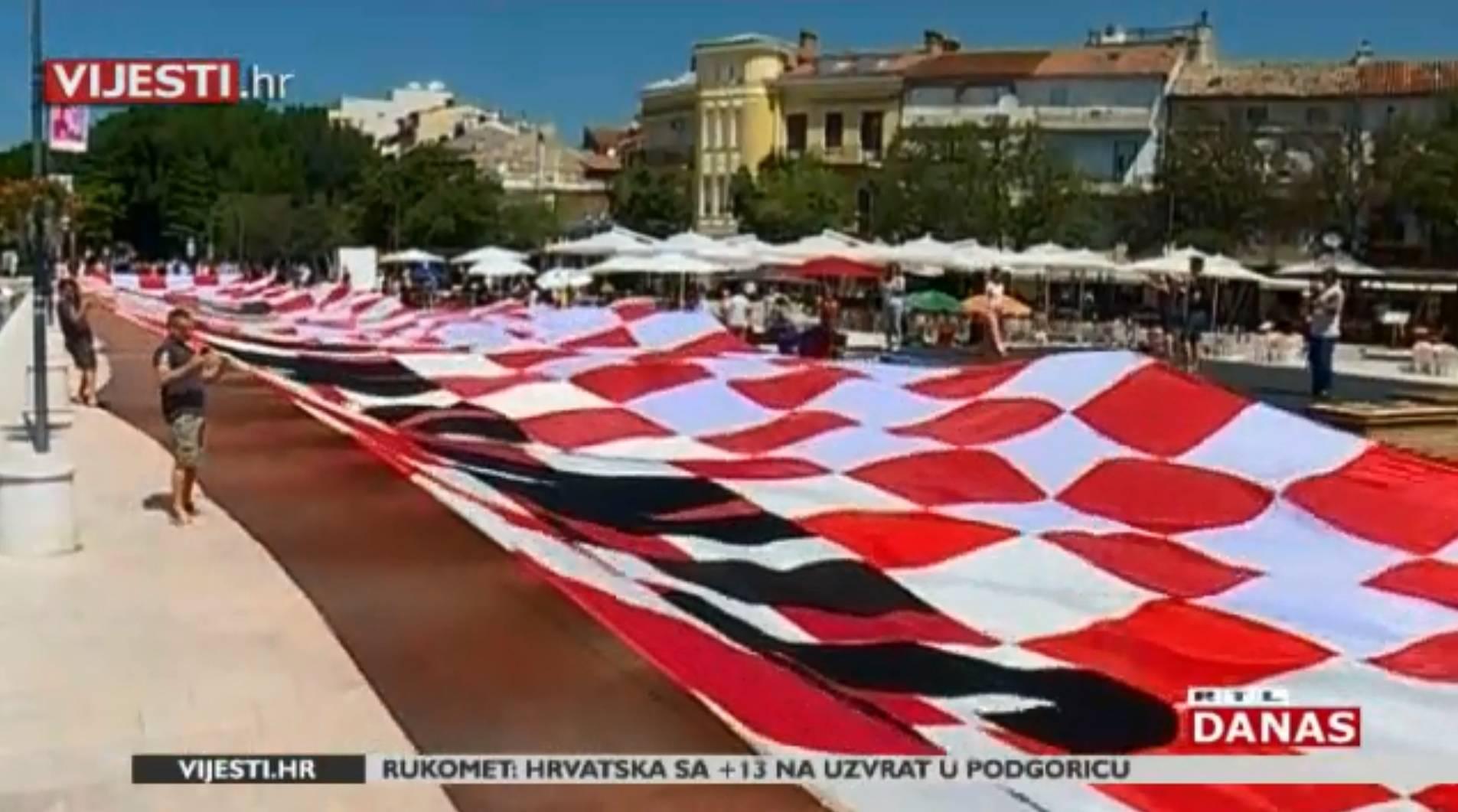 Hrvatska zastava teška 100 kg kreće za Rusiju: Ima 1000 m2!