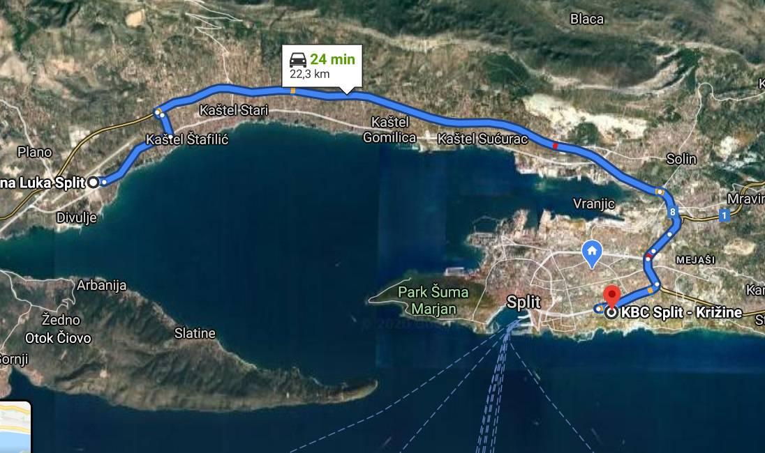 Iz Afrike u Split danas stiže Hrvat zaražen korona virusom