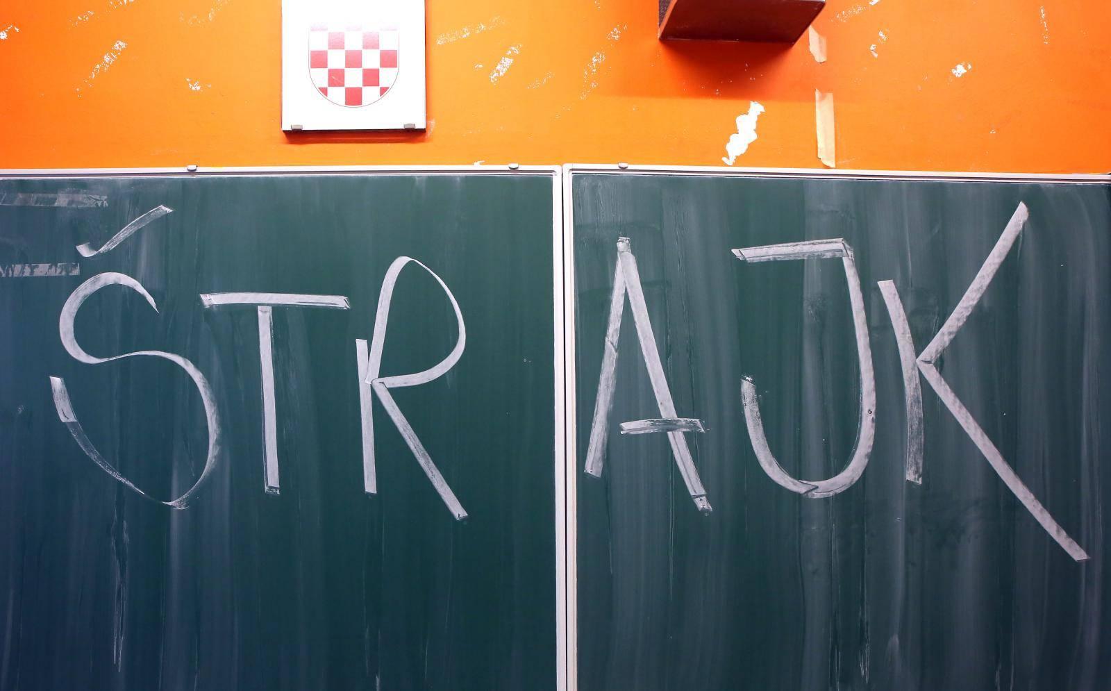 Åibenik: U cijeloj hrvatskoj danas traje Å¡trajk u Å¡kolama