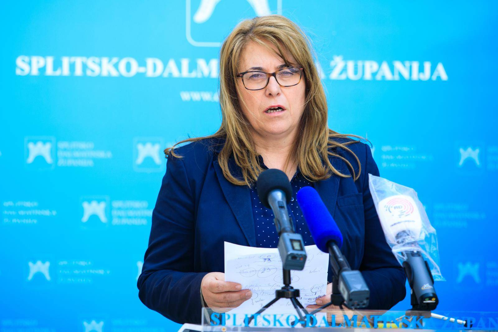 Konferencija za medije kriznog stožera Splitsko-dalmatinske županije
