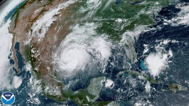 Satellite image of Hurricane Hanna