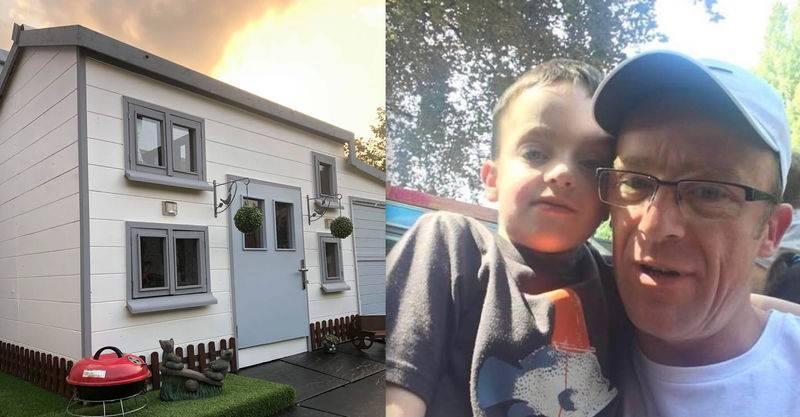 Tata sagradio kućicu za igranje