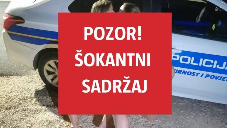 Mir, siguznost i povjerenje: One se u tangicama ljube ispred automobila hrvatske policije
