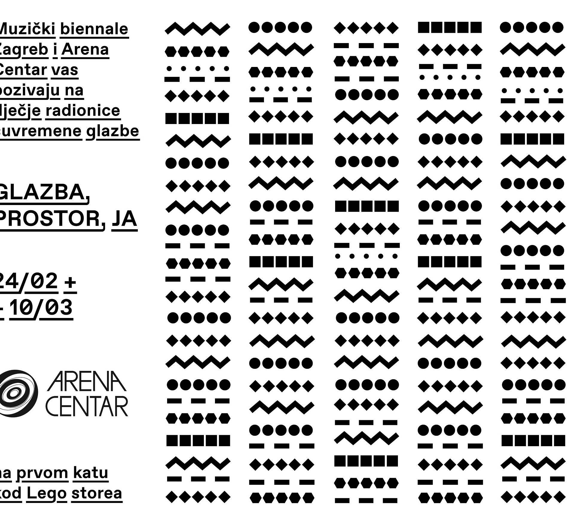 Muzički biennale donosi radionice u Arena Centar!