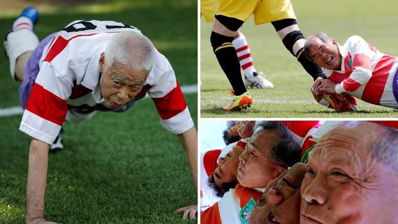 Japanac (86) se ne da: Ne bi smetalo da umrem na ragbiju