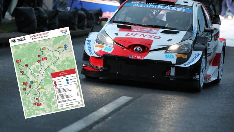 Evo koje se ceste i kad zatvaraju danas zbog WRC Croatia Rallyja