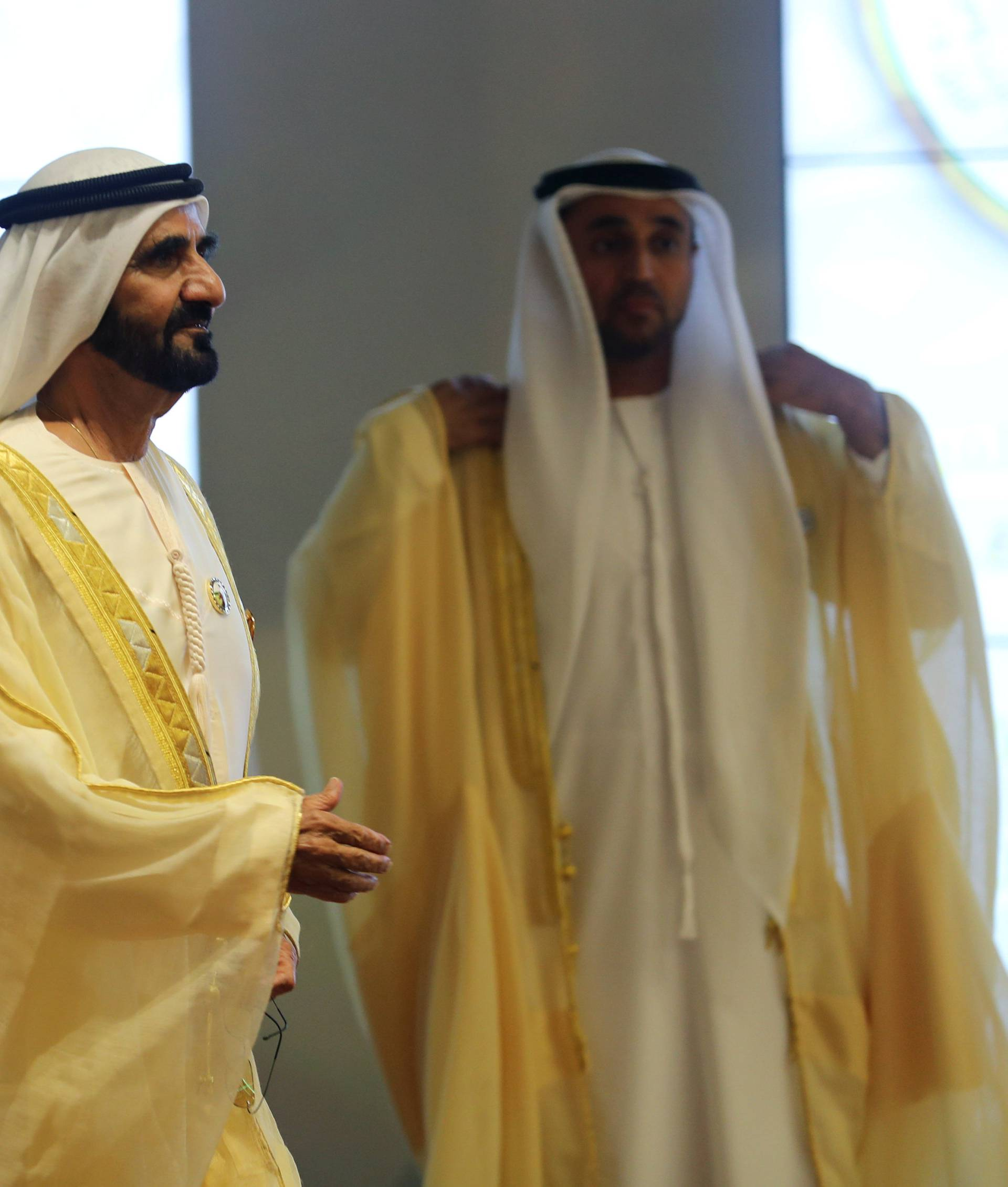 Prime Minister and Vice-President of the United Arab Emirates and ruler of Dubai Sheikh Mohammed bin Rashid al-Maktoum is pictured ahead of the 29th Arab Summit in Dhahran, Saudi Arabia