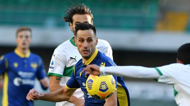 Italian football Serie A match - Hellas Verona vs Sassuolo Calcio