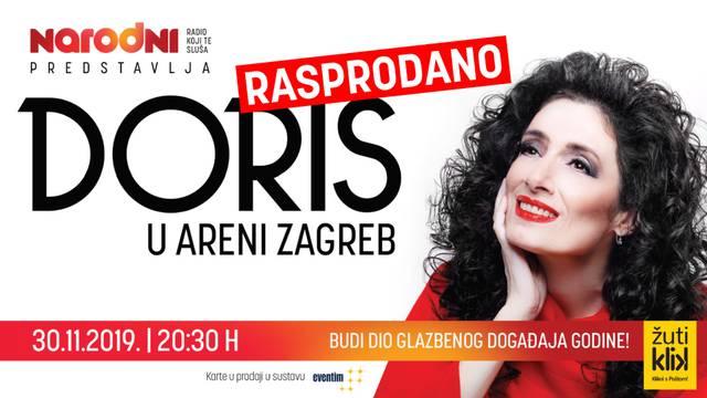 Planule dodatne ulaznice za Doris u Areni Zagreb