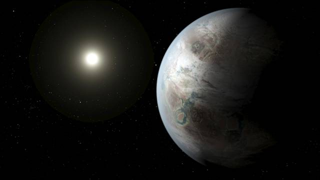 FILE PHOTO:  A NASA illustration depicts one possible appearance of the planet Kepler-452b