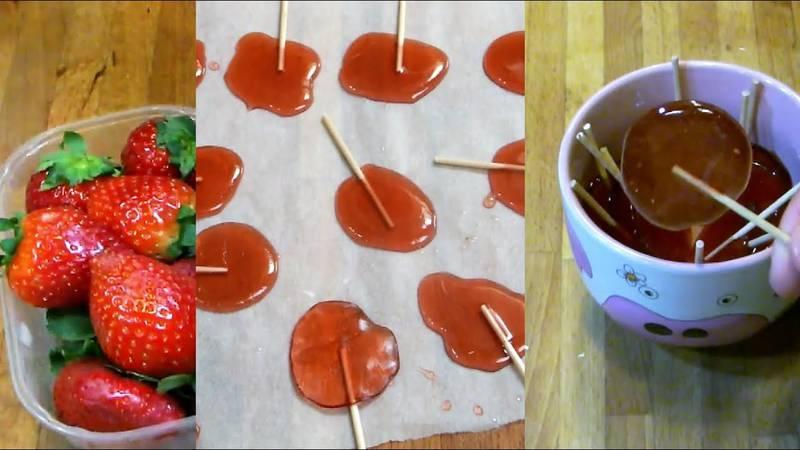 Napravite djeci prefine lizalice od  jagoda i bez umjetnih boja