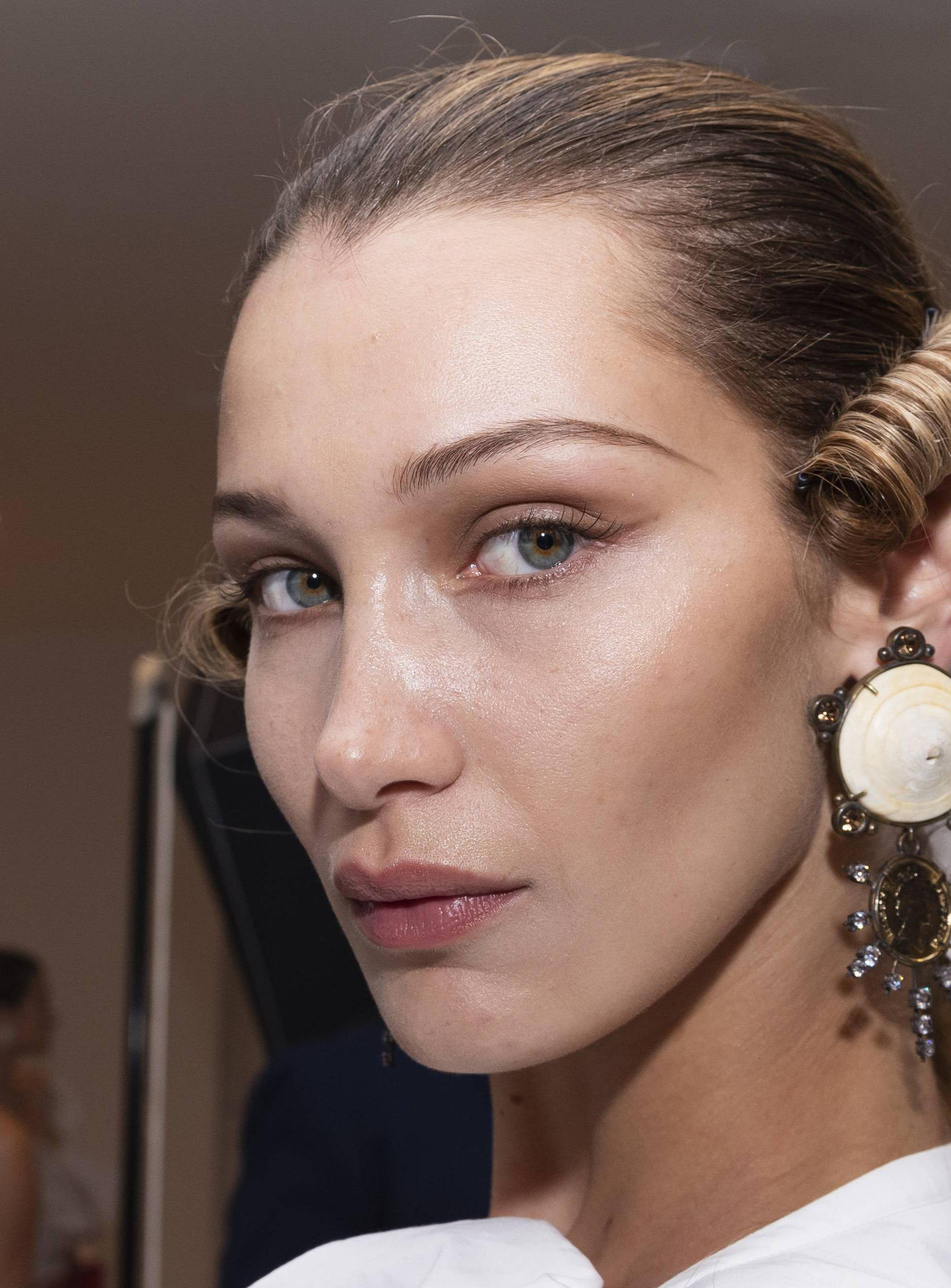 EXCLUSIVE - Bella Hadid at the backstage of Andreas Kronthaler For Vivienne Westwood SS20 Runway during Paris Fashion Week  - Paris, France 28/09/2019