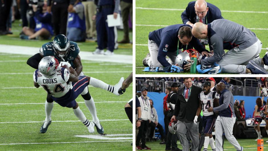 Žestok sudar na Super Bowlu, zvijezda Patriotsa nokautirana