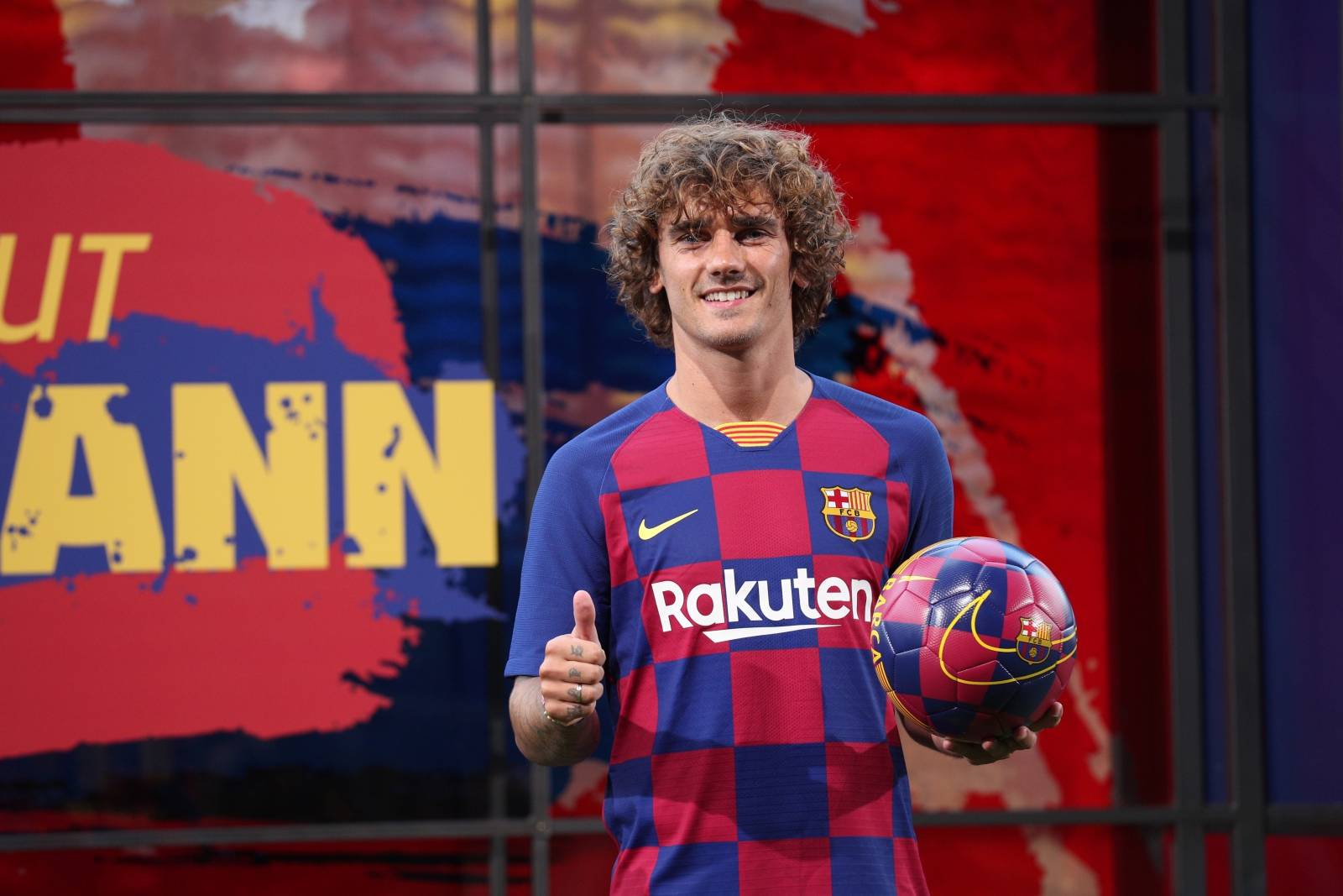 FC Barcelona presentation for new signing Antoine Griezmann