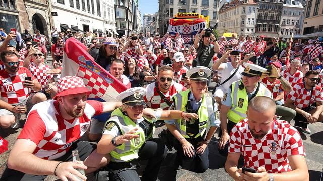 Kopenhagen: Navijaci Hrvatske i Španjolske u gradu uoči utakmice